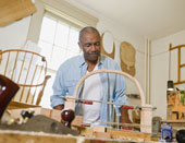 Picture of a woodworker